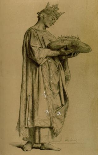 Alexandre Cabanel-Saint-Louis-Tendo a coroa de espinhos 1878